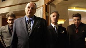 Firkløveret, der gør hele serien seværdig: Christopher Moltisanti, Tony Soprano, Paulie Gualtieri og Silvio Dante.